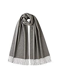Johnstons of Elgin 宽尺寸纯色羊绒围巾WA57