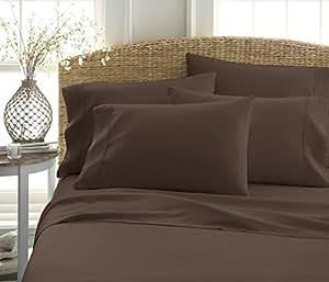 6件床单套装来自 ienjoy 家居系列–100% 超柔软超细纤维床上用品–袋深适用于超大床垫50.8cm 床–抗皱
