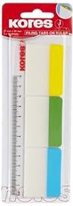 Kores 高乐士 带尺3色归档标签 45123 10张/色,37x50mm