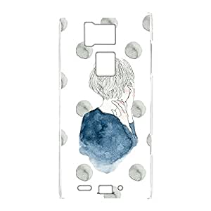 卡丽 壳 透明 硬质 印刷 女孩和圆点 智能手机壳 对应全部机型 女の子とドットE 21_ REGZA PHONE T-02D