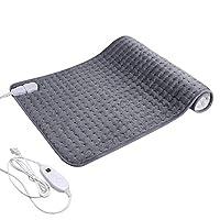 """电动加热垫缓解背部*痉挛,17.7 英寸 x 33.5 英寸 XXXL 超大加热垫,柔软触感,时间设置,自动关闭,快速加热,超软热疗,可机洗 XL 11.8""""x 23.6"""" YT-KH-019"""