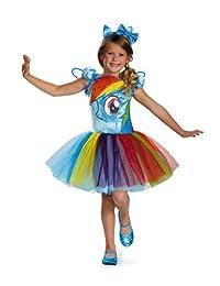 Disguise Hasbro's My Lil' Pony 彩虹斑马短裙 Prestige 女孩服装 X-Smallmall/3T-4T 单色