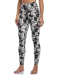 Colorfulkoala 女式高腰图案打底裤全长瑜伽裤