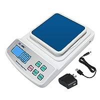 600克(21盎司)/0.01克数字液晶平衡实验室分析学校刻度精度精准,带USB AC/DC适配器