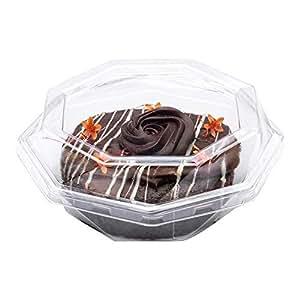 Restaurantware RWP0424C Thermo Tek 10 盎司三角透明塑料三明治容器带盖,6 1/4 英寸 x 3 1/4 英寸 x 3 100 个盒 透明 5.3''L x 5.3''W x 2.1''H RWP0430C
