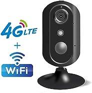 4G LTE 家用摄像机,Fosin JH007 无线 WiFi IP 摄像机移动*室内监控*系统摄像机,带实时视频,夜视,双向音频,运动警报,适用于婴儿宠物保姆监控