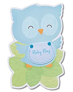 American Greetings 新生儿祝贺卡片 Baby Boy New Baby 祝贺卡
