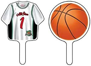Dress My Cupcake Sports Collection Cupcake Toppers and Picks, Basketball, Case of 144