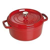 Staub 琺寶 琺瑯鑄鐵鍋 圓形鑄鐵燉鍋 26cm 櫻桃紅