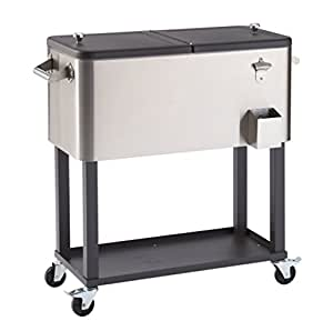 Trinity TXK-0802 不锈钢冷却器带支架 1-(Pack) 银色 TXK-0802