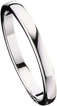 Tungsten Carbide Classic Wedding Ring Polished Band 2mm Thin