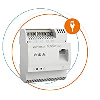 Devolo Magic 2 LAN DIN轨道:Powerline 滑轨适配器,可通过整个家庭的电源线实现*佳分发网,传输箱中的高速互联网,G.hn技术,8550