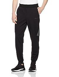 adidas NEO 阿迪达斯运动生活 男式 针织长裤 CD1652 黑/黑 M CS MESH OL TP