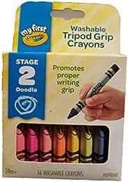 Crayola 绘儿乐 幼儿系列16色可水洗三角蜡笔 81-1316