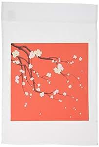 dezine 01花卉–orients 红色 EXPRESS–旗帜 12 x 18 inch Garden Flag