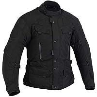 Bikers Gear Australia 新款防水 Infinity 四季舒适夹克可拆卸保暖内衬,带 CE1621-1 盔甲 UK 44 EU 54 2XL 黑色 CJ2021-2XL