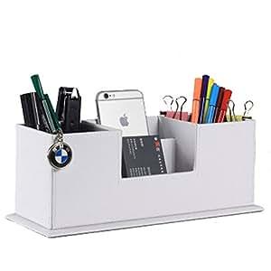 Iremico 人造革办公用品文具远程铅笔架系列 - 黑色 白色