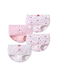 Naturhand 南禾 儿童三角面包裤 棉质莱卡女宝宝三角裤 女童内裤棉A类 四条盒装