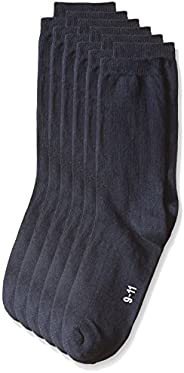 Trimfit 男孩 6 条装长裙罗纹圆领袜(舒适)