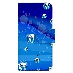 智能手机壳 手册式 对应全部机型 印刷手册 wn-435top 套 手册 海洋设计 UV印刷 壳WN-PR156969-L GALAXY Note II SC-02E 图案F