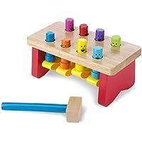 Melissa & Doug 豪华敲击板凳 木制玩具 含锤子(成长玩具,锻炼精细运动技能)