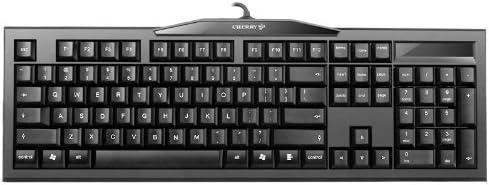 CHERRY 樱桃MX-BOARD2.0黑色青轴G80-3800LSAEU-2机械键盘 (德国工艺)(新老版本更替,随机发货- logo,背面贴标微调)