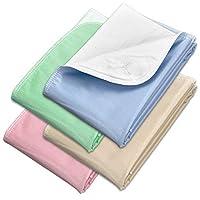 "Incontinence 床垫 - 可重复使用的防水下垫椅,沙发和床垫保护罩 - 吸水性强,可机洗 - 适合儿童、宠物和老年人 - Royal Care 出品 34"" x 36"" - 4 Pack - Multi Color 4.00"