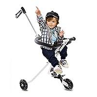 DH乐易行 儿童三轮稳定遛娃神器 简易轻便携带 折叠宝宝儿童三轮车 超轻宝宝手推车 带遮阳伞 (薰衣草紫)