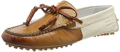 Melvin & Hamilton 女士 Caroline 8拖鞋, 多色 白色 Vegas-Cuoio, 42 EU