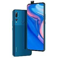 华为 Y9 Prime 2019 (128GB, 4GB RAM) 6.59 英寸显示屏,3 个 AI 摄像头,4000mAh 电池,双 SIM GSM 工厂解锁 - STK-LX3, 美国和全球 4G LTE 国际型号 128 GB 蓝宝石蓝