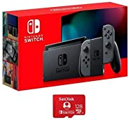 Nintendo 任天堂 32GB Switch with Gray Joy-Con Controller - 帶 SanDisk 128GB UHS-I microSDXC 存儲卡