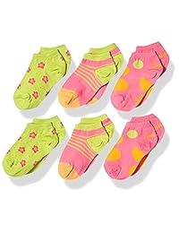 Country Kids 女孩夏季快乐低帮隐形运动鞋内衬袜,6 件装