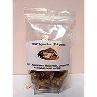 Rockhound's 1st Choice Rock Tumbler 宝石补充包 - Bog 玛瑙粗糙 - McDermitt 俄勒冈州,8盎司
