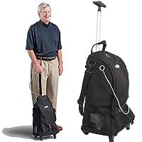 Roscoe Medical 便携式氧气气缸滚筒袋适用于移动氧气用户 - 带轮的手提袋,适用于液体便携式和圆筒,*大尺寸 D - 35.56 厘米 x 43.18 厘米 x 20.32 厘米,HA001