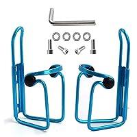 Ibuger 自行车水瓶架,自行车自行车轻质铝合金瓶架,适合户外活动(2 只装)