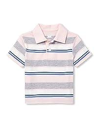 The Children's Place 男婴短袖印花 Polo 衫,粉红色刺,12-18 个月