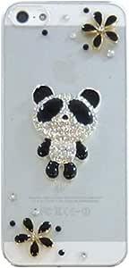 智能手机壳 透明 宝石 装饰 套 透明壳 硬质 装饰 定制 壳wn-0061679-wy AQUOS PHONE ZETA SH-01H THEパンダ