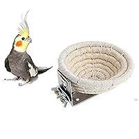 Orgrimmar 手工棉绳鸟巢养殖鸟巢笼笼子适用于虎皮鹦鹉鹦鹉鹦鹉鹦鹉锥形金丝雀爱情鸟和小鹦鹉