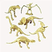 US Toy - 多款恐龙骨架玩具人物,塑料制造, 1-Pack of 12 Us Toy - Assorted Dinosaur Skeleton Toy Figures, M