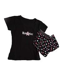 Rockstar T 恤 Capri Set 黑色