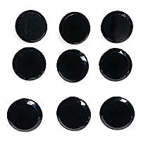 9 喷气玻璃闪亮黑色纽扣套装 - 钻石切割边缘切面款式 3/8 英寸 11mm 适用于、衬衫等