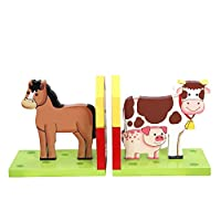 "Teamson Design Corp Fantasy Fields - 儿童用木质书签套装 | 想象力灵感手工和手绘细节*,无铅水性涂料 Happy Farm ""Multi"""