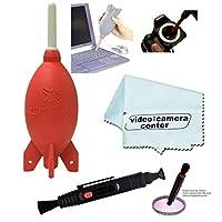 Giottos AA1903 火箭气枪大号-红色+VCC113 超细纤维布 + 清洁镜头笔