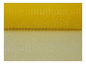 53.34 厘米 x 76.2 米 - 金属装饰聚乙烯网丝带 Daffodil 10 英寸 10J