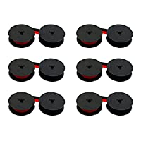 Printerfield 6 件装兼容打字机墨带 Olivetti GR.4/GR.8 - 黑色和红色