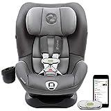 Cybex Sirona M带SensorSafe可转换汽车安全座椅,5点式安全带,带内置传感器,LSP:线性侧面碰撞保护,LATCH系统,适合5至65磅/约2.27千克至29.48千克婴儿和幼儿