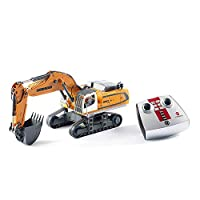 Siku 6740  Liebherr R980 SME 挖掘机,遥控,1:32,含遥控模块,金属/塑料,电池供电,多种功能,黄色
