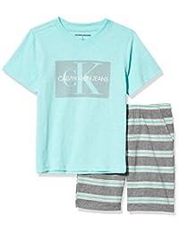 Calvin Klein 卡尔文·克莱恩 男童 上衣短裤两件套