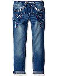 Lee 大女童时尚紧身七分牛仔裤