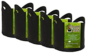 Smart Pot Wholesale Case Soft Sided Fabric Garden Plant Container Aeration Planter Pots 黑色 10 Gallon w/Handles - 50 Count